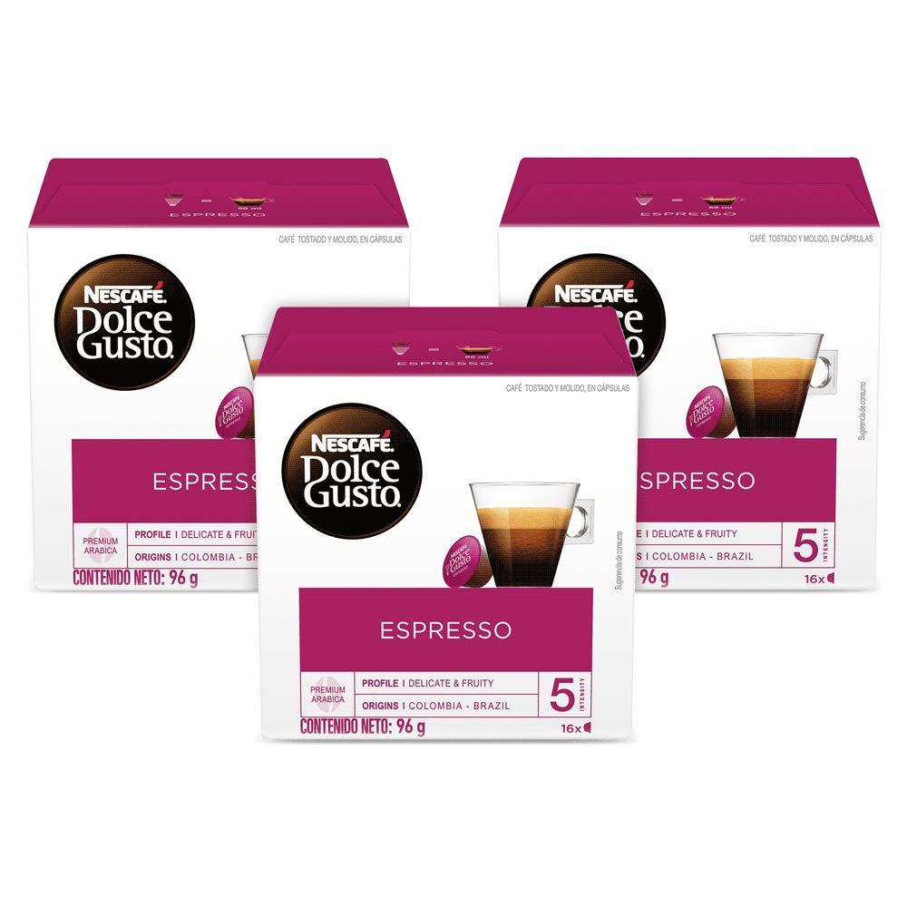NESCAFÉ Dolce Gusto Coffee Capsules Espresso 48 Single Serve Pods, (Makes 48 Cups) 48 Count