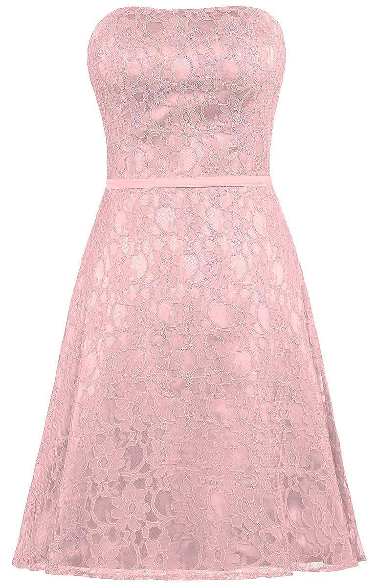 bluesh ANTS Women's Strapless Lace Bridesmaid Dresses Short Party Gown