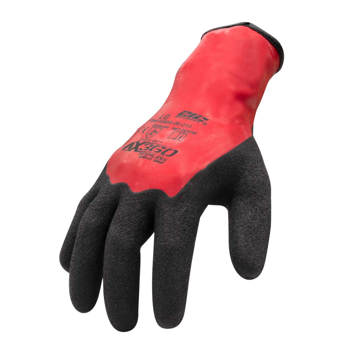 212 Performance Gloves AXSDG-05-011PR AX360 Shield Grip Latex-dipped Gloves, X-Large