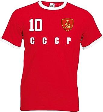 aprom CCCP UDSSR - Camiseta de fútbol con diseño de la Unión Soviética: Amazon.es: Ropa y accesorios