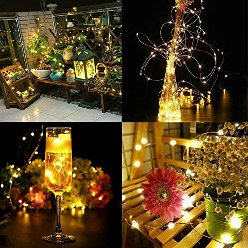 Twinkle Star 200 LED 66ft Fairy Copper String Lights USB & Adaptor Powered, Dimmable Control Starry String Lights Home… 6