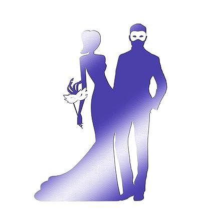 Amazoncom Purple Masquerade Couple Cardboard Standup Kit 6 Feet