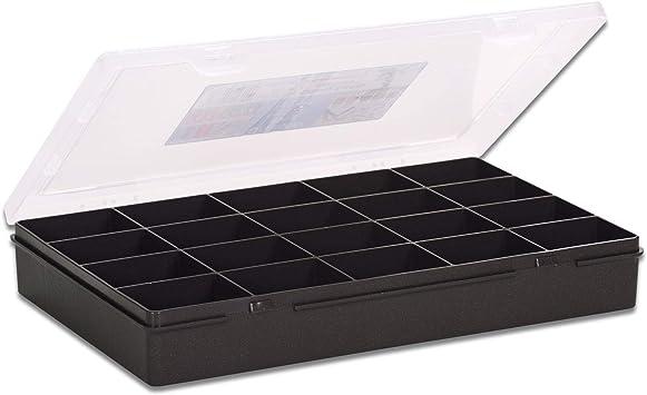 transp. 5x WHAM 23258 Sortierkasten mit 6 Fächer soft grau 29 x 30 x 6 cm