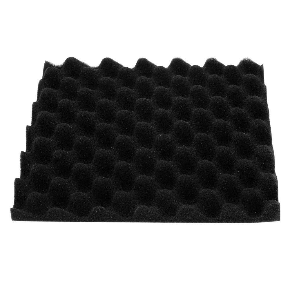 Tuscom Acoustic Soundproof Foam Absorption Sponge,25x25x5cm No Dust High Density Pyramid Sound-Absorbing Sponge,for Studio Drum Room KTV Sponge (Black)