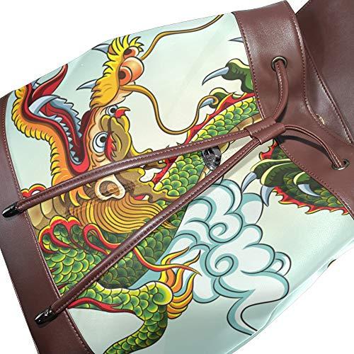 Para Mochila Piel Dragonswordlinsu Talla Mujer De Multicolor Única Bolso 1a6W6wAqp