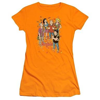 740b4195a7d3d Archie Comics Colorful Gang Betty Veronica Jughead Reggie Juniors Sheer  T-Shirt