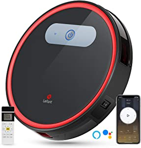 Lefant Robot Vacuum, Robotic Vacuum Cleaner Wi-Fi Connected, 2000Pa Power Suction, Works with Alexa and Google, Self-Charging, M501-B Robotic Vacuum for Hardwood Floors, Pet Hair, Medium-Pile Carpets