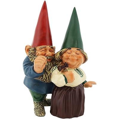Sunnydaze Garden Gnome Couple Arnold and Sarah, Outdoor Lawn Statue, 8 Inch Tall : Garden & Outdoor