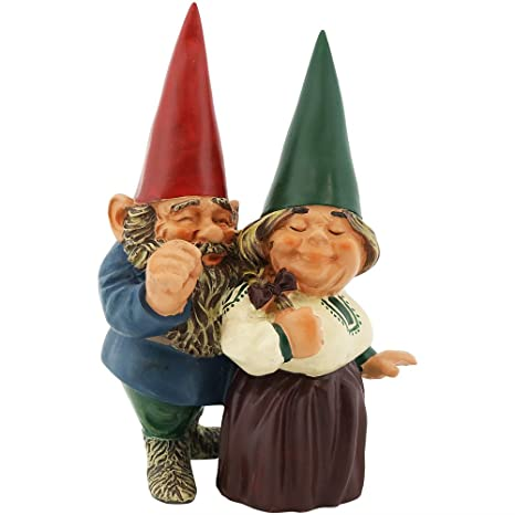 Marvelous Sunnydaze Garden Gnome Couple Arnold And Sarah, Outdoor Lawn Statue, 8 Inch  Tall