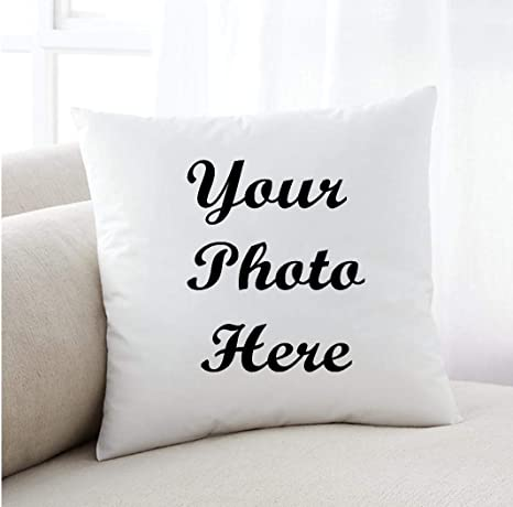 Amazon Com Caffeine And Wine Photo Pillow Customized Your Own Image Or Quote Home Kitchen