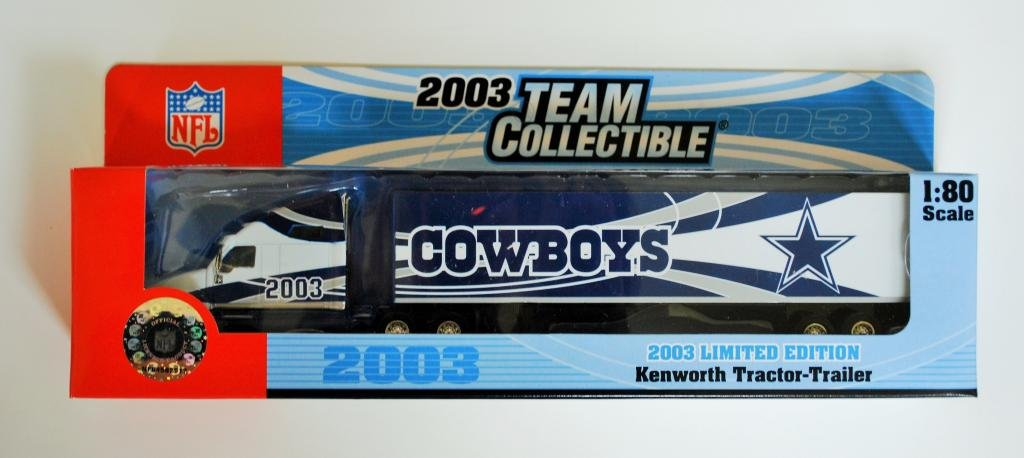White Rose 2003 NFL Team Collectible 1:80 Scale Diecast Kenworth Tractor Trailer DALLAS COWBOYS
