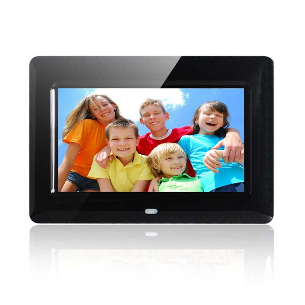 Wecool 7 Inch HD Digital Photo Frame IPS LCD Screen with Auto-Rotate/Calendar/Clock Function, MP3/Photo/Video Player with Remote Control (Black) by Wecool