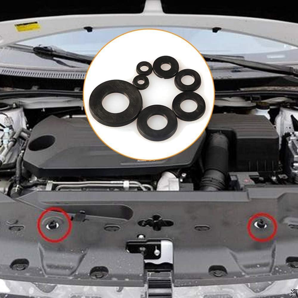 Stecker und Kabel 250 St/ücke Kabelt/ülle Kunststoff Schwarz Gummit/ülle Kabelt/ülle Gummi Gummi Unterlegscheiben Set f/ür Draht
