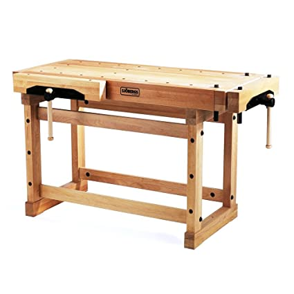 Sjobergs 33246 1500 Elite Woodworkers Beech Workbench With Two
