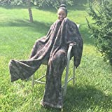 Ultra Cuddle - Shawl Blanket with Feet Pockets/Super Plush-Animal Print