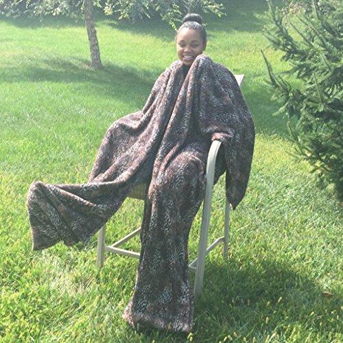 Ultra Cuddle - Shawl Blanket with Feet Pockets/Super Plus...