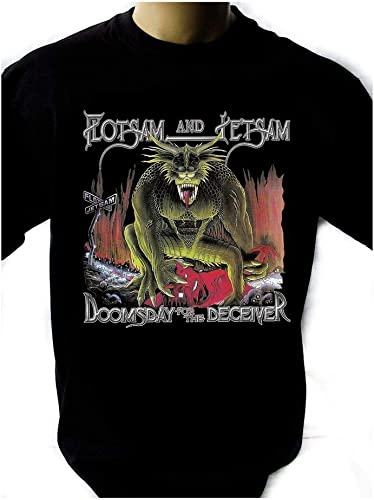 Flotsam and Jetsam Doomsday for The Deceiver Black T-Shirt Men Shirt Rock Band: Amazon.es: Ropa y accesorios