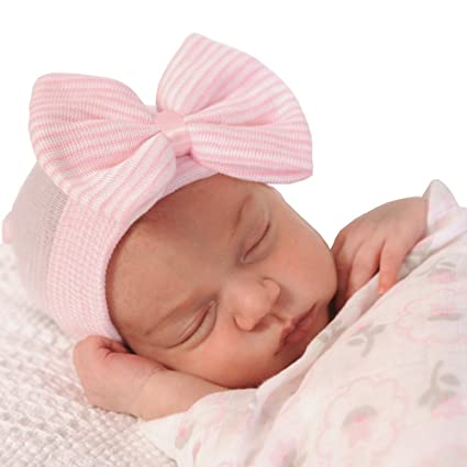 Learned 2019 Newborn Floral Hospital Hat Baby Infant Girl Toddler Comfy Bowknot Hospital Caps Warm Beanie Hat Girls' Baby Clothing