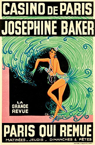 Casino de Paris - Josephine Baker - Paris Qui Remue Poster (artist: Zig Louis Gaudin) France c. 1930 (16x24 Giclee Gallery Print, Wall Decor Travel Poster)