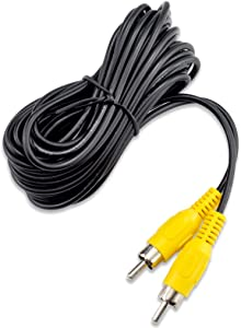 OLLGEN RCA Video Cable,Digital Audio Coaxial Cable with Male to Male Single Plug,A/V Extension Cord for Subwoofer Car Rear View Parking Buckup Camera,5M/16Feet
