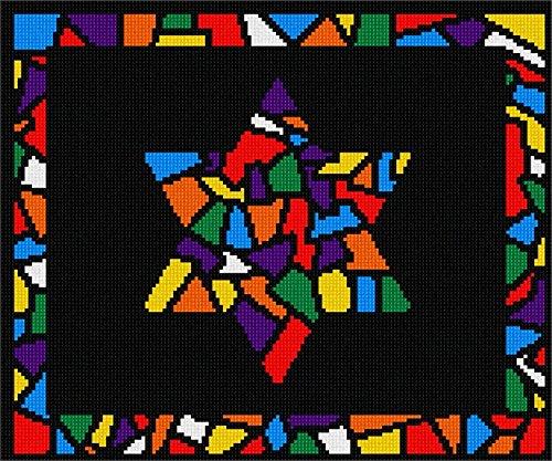 Pepita Tallit Glass Borders Star Needlepoint Kit ()