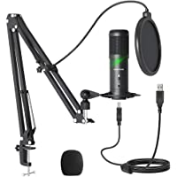 Sudotack Professional ST900 USB-podcast-microfoon, 192 kHz/24 bits, studionitor, condensatormicrofoon, kit met…