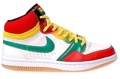 quality design 8ed67 32951 ... Nike Womens Court Force High Basketball Shoes Jamaica Reggae Rasta  Edition Leather Rubber Basketball Shoes 10.5 ...