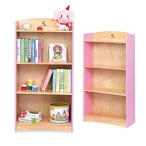 buy popular bcec1 ac048 Amazon.com: Bookshelf Bookcases Children's Four Story Floor ...