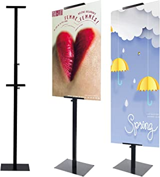 Amazon.com : HUAZI Poster Display Stand Pedestal Sign Holder Stand with  Base for Indoor Outdoor, Double-Sided, Black : Office Products