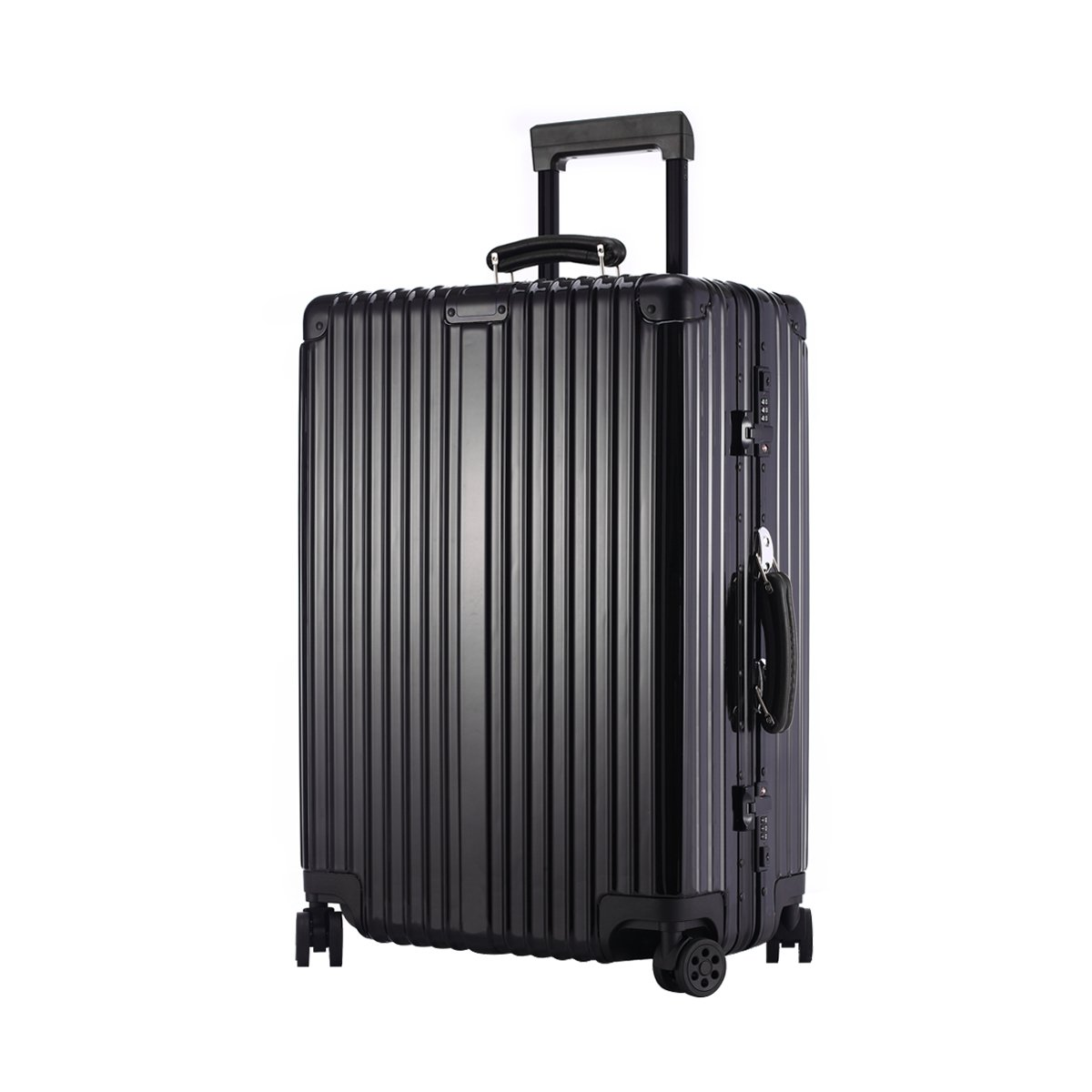URSTAR Aluminium Frame Luggage TSA Approved Spinner Wheels (29'', Black)
