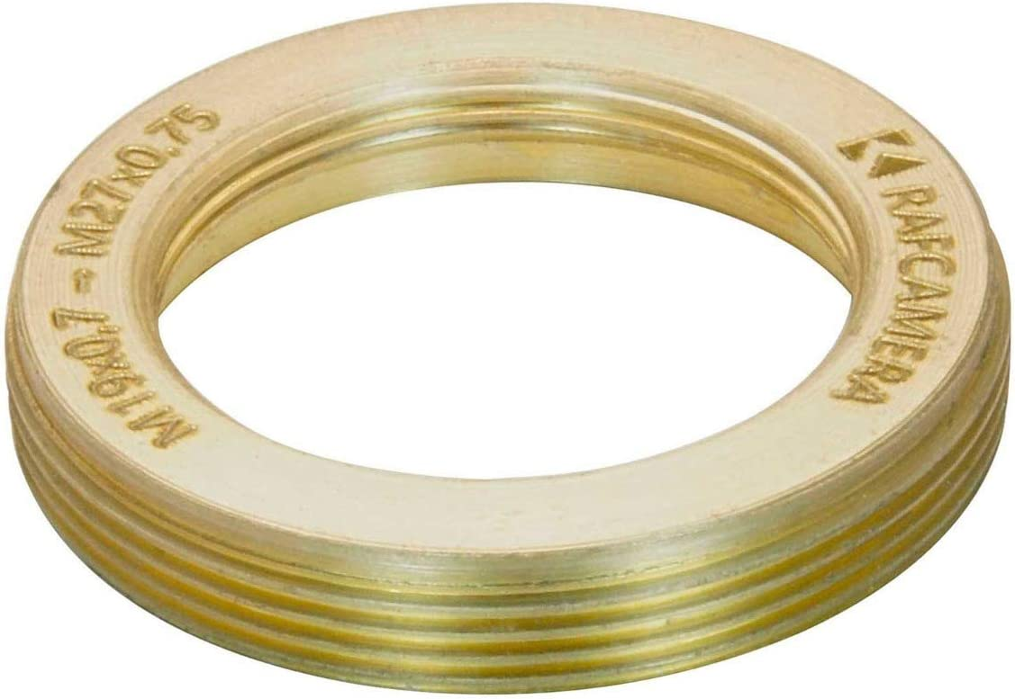 M27x0.75 Male to M19x0.75 Female Thread Adapter flangeless Bronze