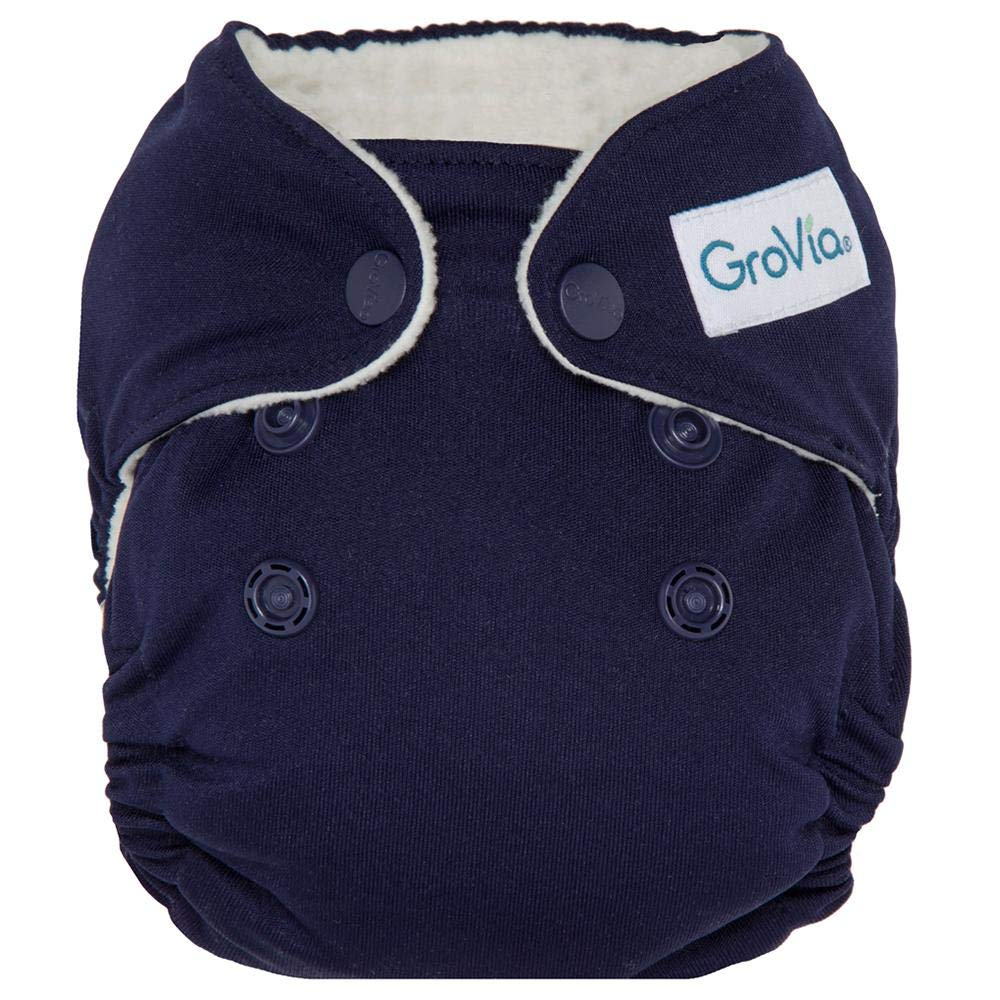 GroVia Newborn All in One Snap Reusable Cloth Diaper (AIO) (Arctic) by GroVia