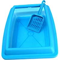 Flameer Baoblaze Pet Cat Litter Box Tray Anti Splash Toilet Fenced Pan with Shovel