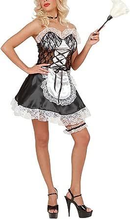 Islander Fashions Sat n de Mujer Traje de mucama Franc s