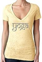 Yoga Clothing For You Ladies Sanskrit Yoga Text V-neck Burnout Tee Shirt