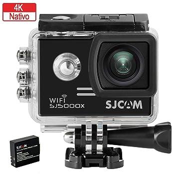 SJCam SJ5000X Elite (versión española) - Videocámara deportiva (WiFi integrado, 4K, pantalla de 2 LCD, WiFi, sumergible 30 m) color negro