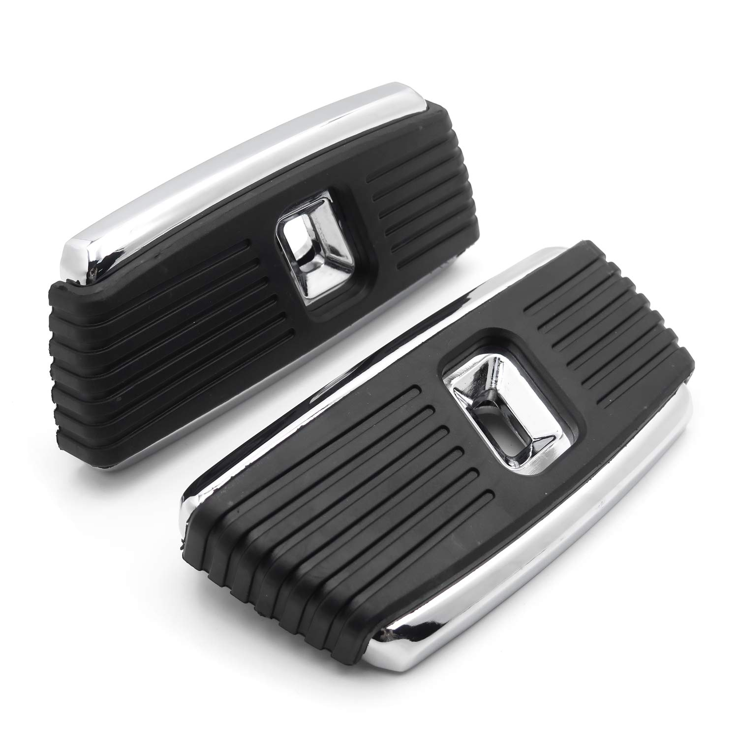 Hana Square Passenger Footboard Floor Boards Compatible With Harley 1986up Touring Models 2006-2017 Dyna 2000-2019 Softail Chrome HTTMT P//N: MT216-129