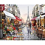 Other Oil Painting Diy Paint By Number Kit For Paris France Scenery