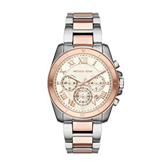 76e6bca0f9ba Amazon.com  Michael Kors Women s Brecken Two-Tone Watch MK6368 ...