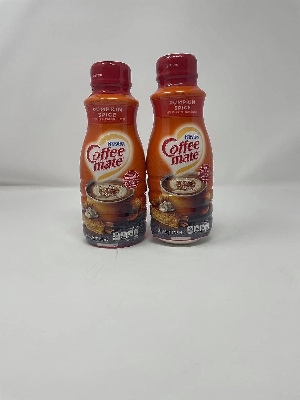 COFFEE-MATE Pumpkin Spice Liquid Coffee Creamer 16 Oz (Pack of 2)