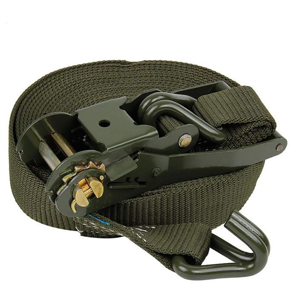 Diversity Wrap 4x Ratchet Strap Tie Down 2T 10m x50mm Iron Handle and Double J hook 2500kg Webbing