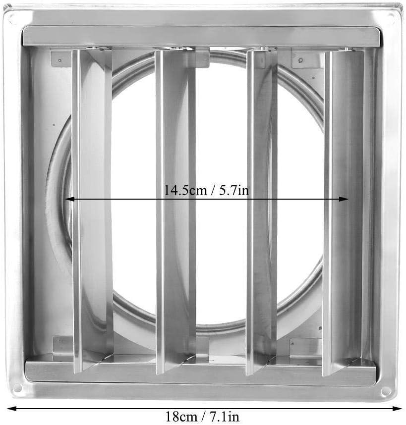 Salida de humos, MAGT cuadrado del acero inoxidable de la Rejilla del aire Cubierta de pared del tubo de aire Rejilla de ventilación Secadora de ropa Extractor de salida for baño La