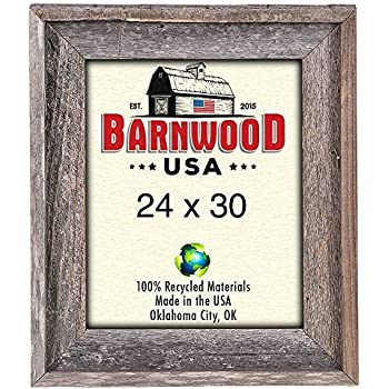 Amazon.com - BarnwoodUSA Rustic 24 by 30 Inch Wooden Picture Frame ...
