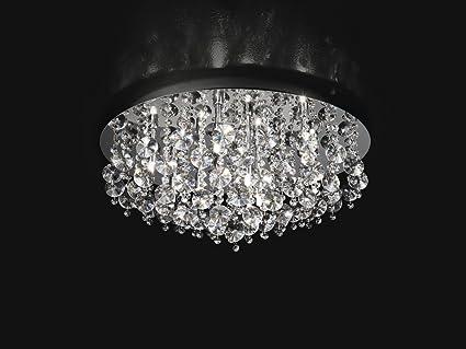Plafoniere In Cristallo Miglior Prezzo : Plafoniera con cristalli d cm xg w amazon illuminazione