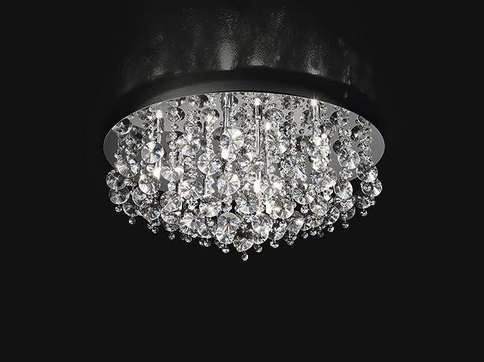 Plafoniere In Cristallo Prezzo : Plafoniera con cristalli d cm xg w amazon illuminazione