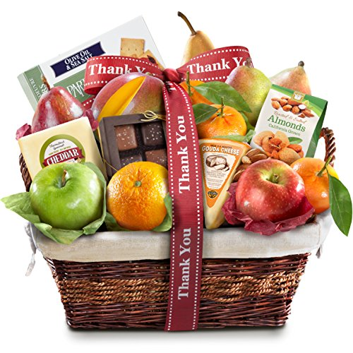 Thank You Fruit Basket (Golden State Fruit Deluxe Gift Basket, Thank You)