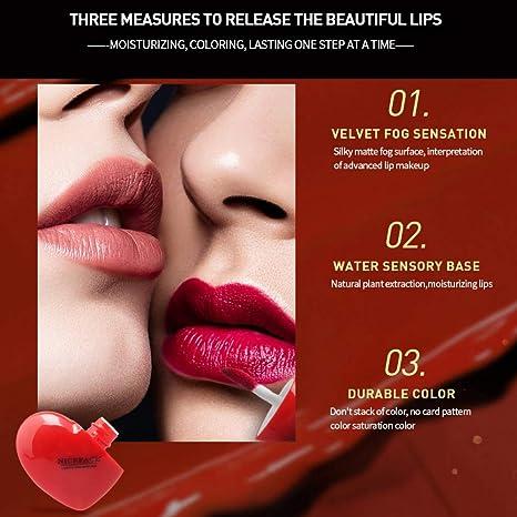 Allbestaye Lip Gloss Matte Heart Shaped