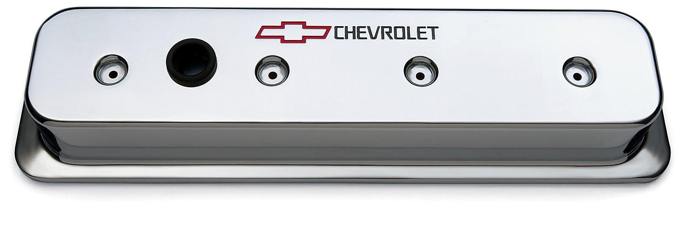 Proform 141-132 SBC Chrome Die Cast Center Bolt Valve Cover by ProForm