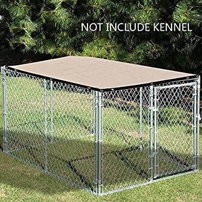 Alion Home Sun Block Dog Run & Pet Kennel Shade Cover Privacy Screen (Dog kennel not included). Banha Beige