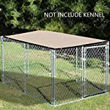 Alion Home Sun Block Dog Run & Pet Kennel Shade Cover (Dog Kennel Not Included) Banha Beige (10'x 10')